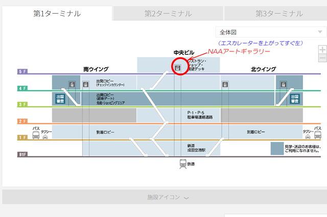 成田空港第一ターミナル ビル断面図